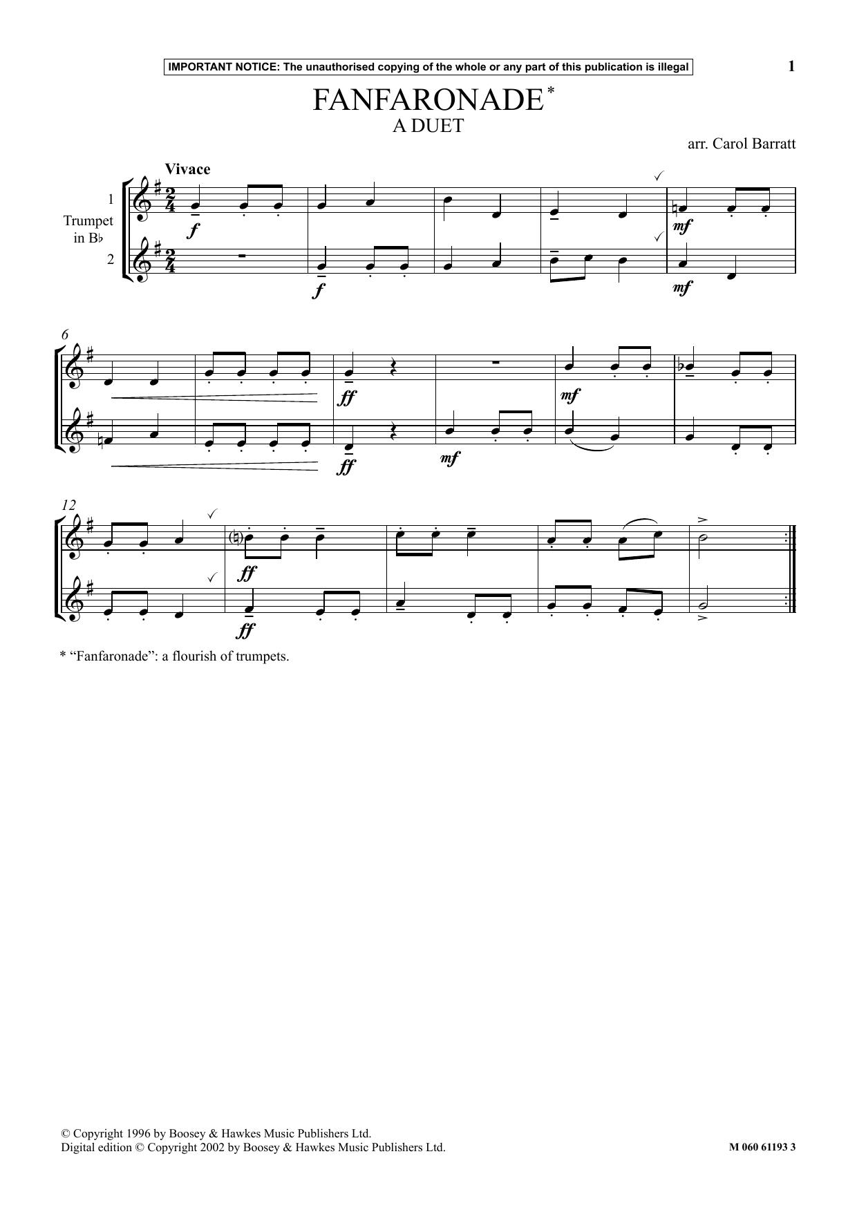 Fanfaronade Sheet Music