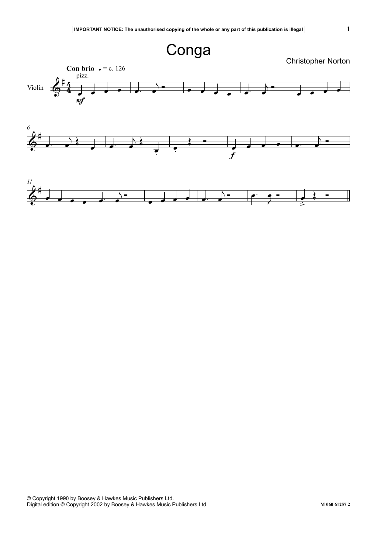 Conga (Instrumental Solo)