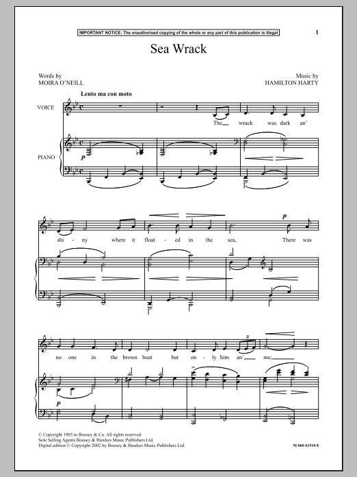Sea Wrack (Piano & Vocal)