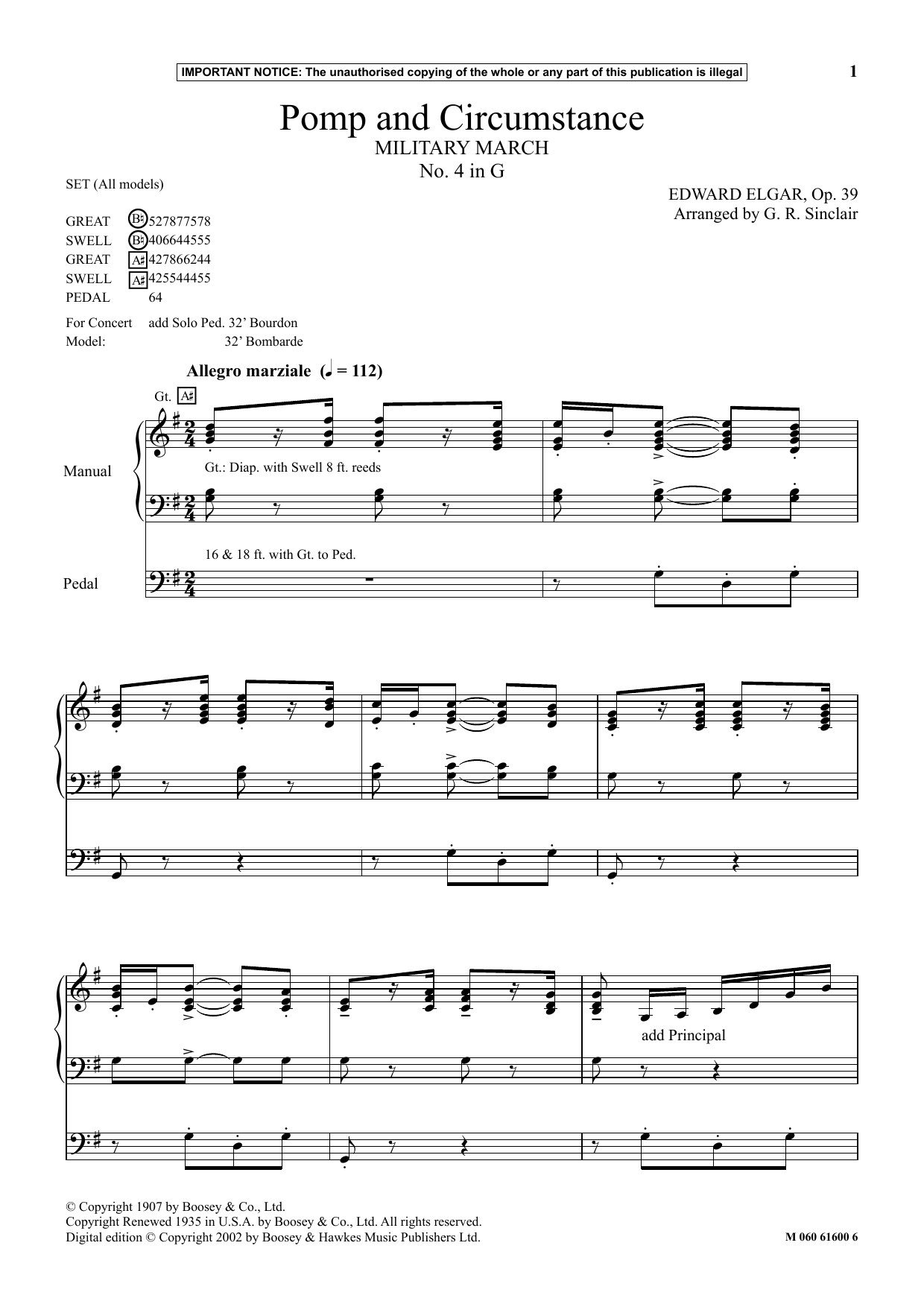 Pomp And Circumstance (Military March No. 4 In G) (Instrumental Solo)