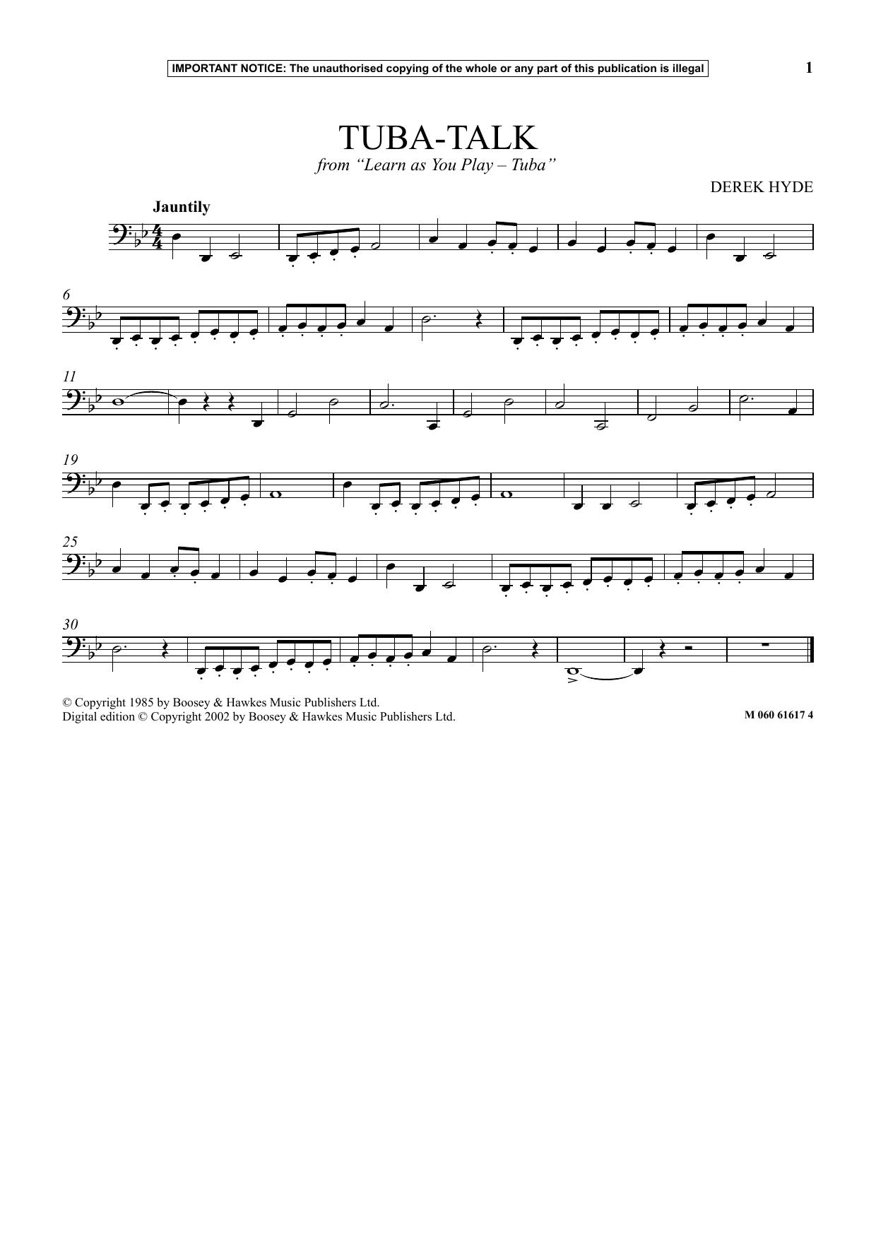 Tuba Talk (from Learn As You Play Tuba) (Instrumental Solo)