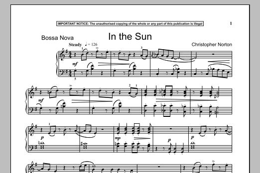 In The Sun (Piano Solo)