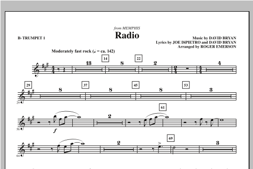 Radio (complete set of parts) sheet music for orchestra/band (chamber ensemble) by Roger Emerson, David Bryan and Joe DiPietro. Score Image Preview.