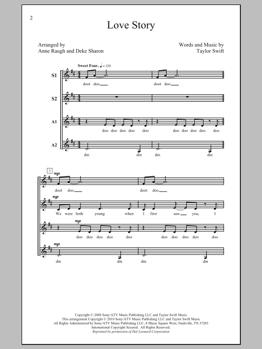 Love Story (arr. Deke Sharon) Sheet Music