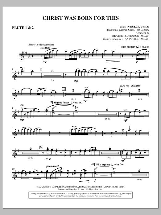 Christ Was Born For This - Flute 1 & 2 (Choir Instrumental Pak)