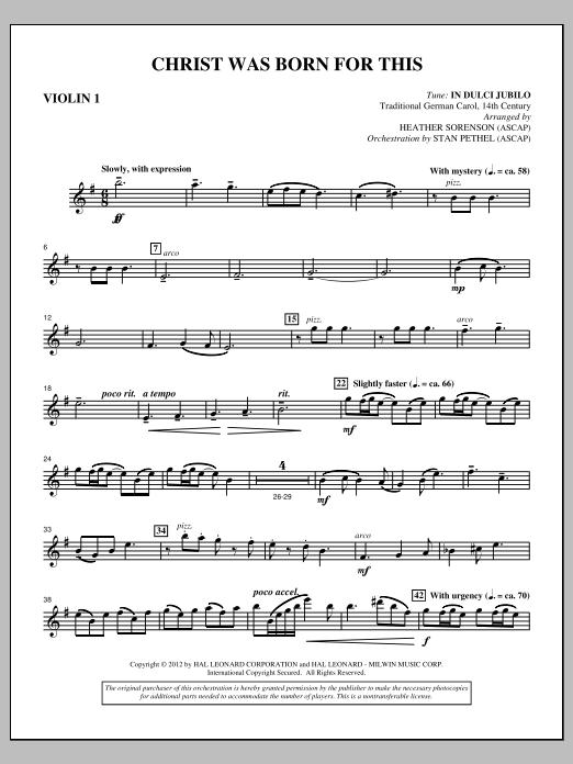 Christ Was Born For This - Violin 1 (Choir Instrumental Pak)