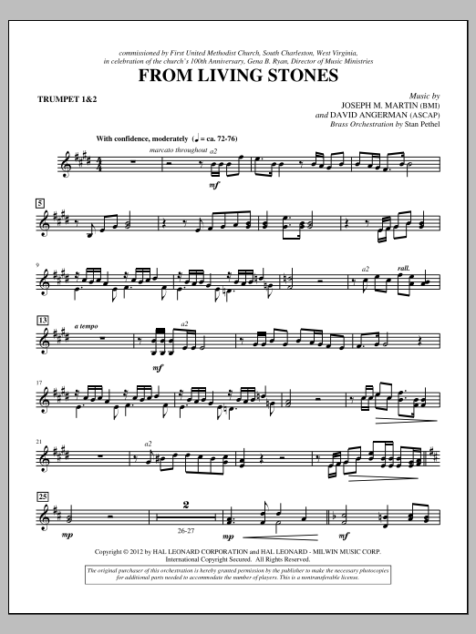 From Living Stones - Bb Trumpet 1,2 (Choir Instrumental Pak)