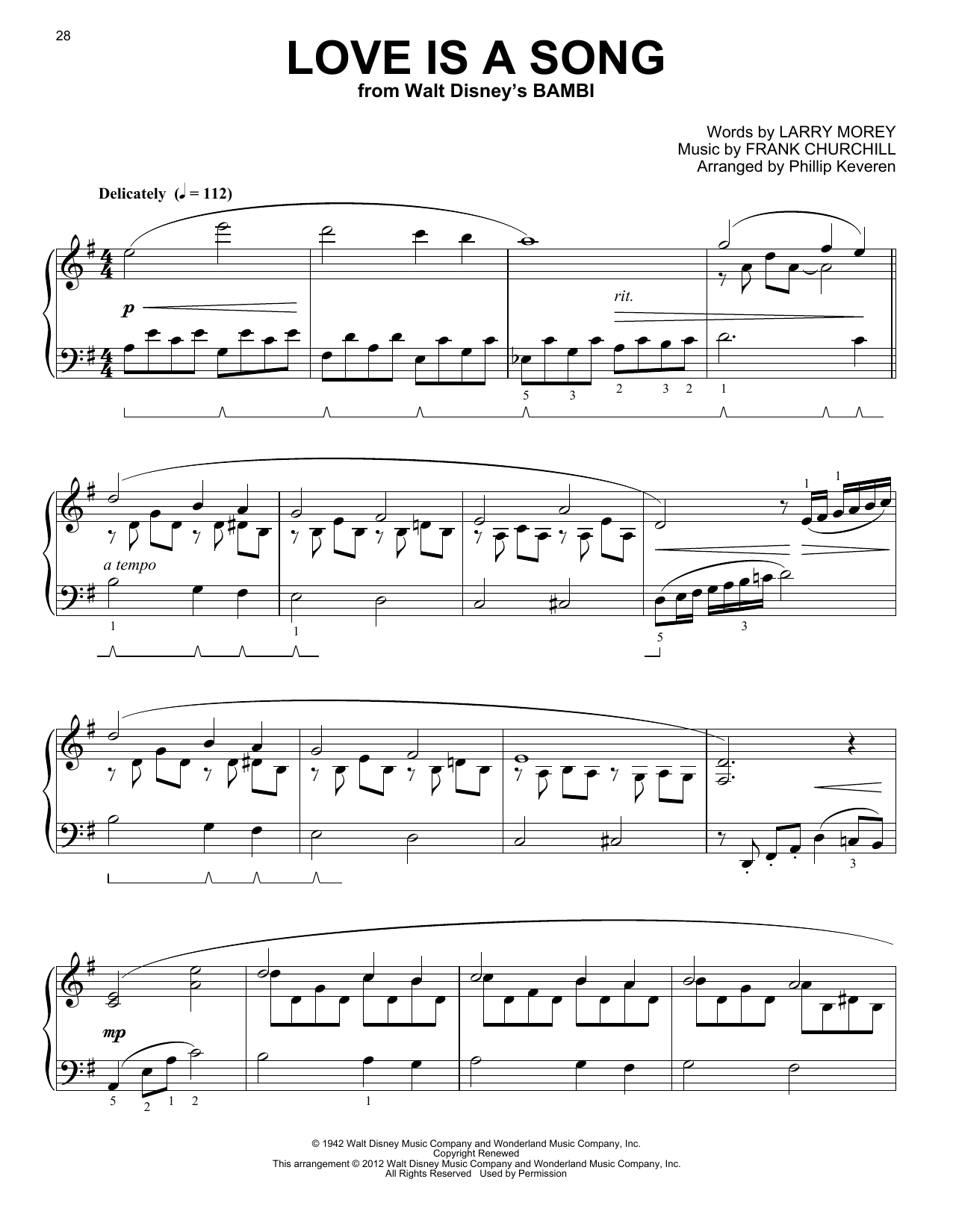 Partition piano Love Is A Song de Phillip Keveren - Piano Solo