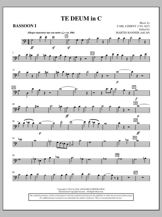 Te Deum In C - Bassoon 1 Sheet Music