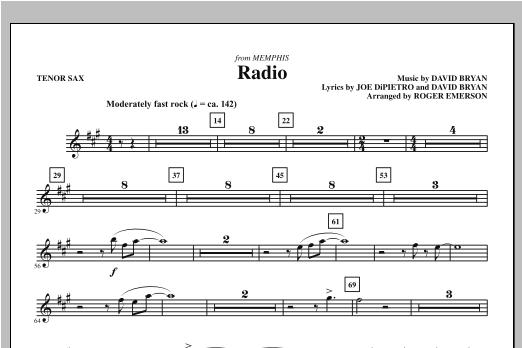 Radio - Tenor Sax (Choir Instrumental Pak)