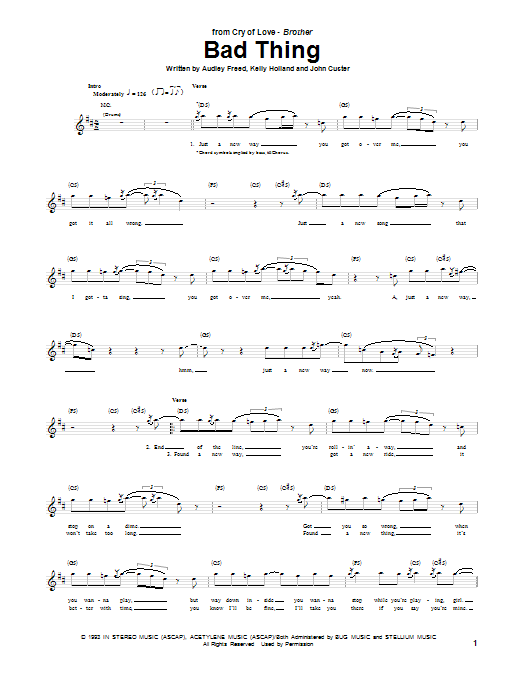 Bad Thing Sheet Music