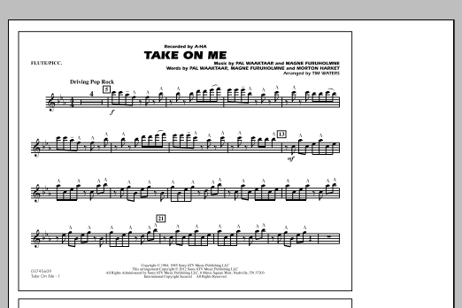 Take On Me - Flute/Piccolo (Marching Band)