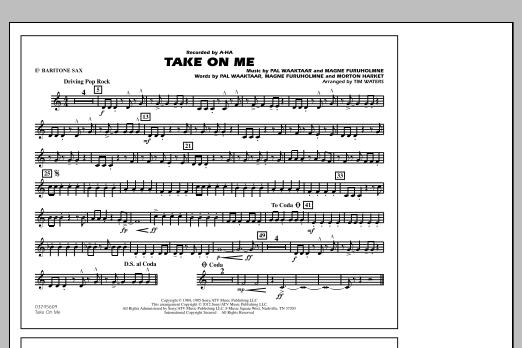 Take On Me - Eb Baritone Sax (Marching Band)