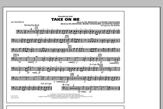 Take On Me - 2nd Trombone (Marching Band)
