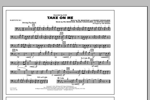 Take On Me - Baritone B.C. (Marching Band)