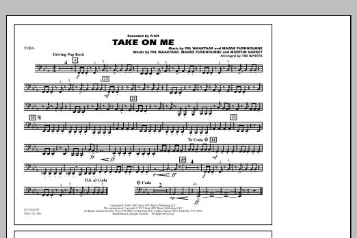 Take On Me - Tuba (Marching Band)