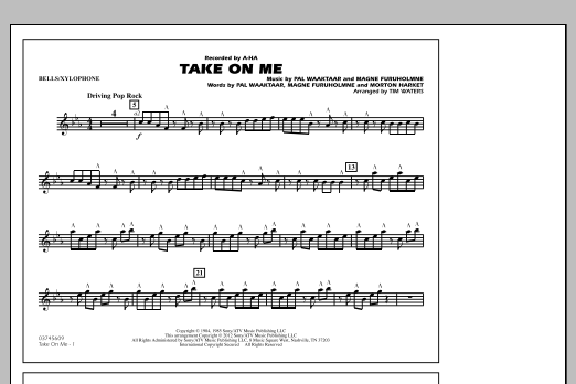 Take On Me - Bells/Xylophone (Marching Band)