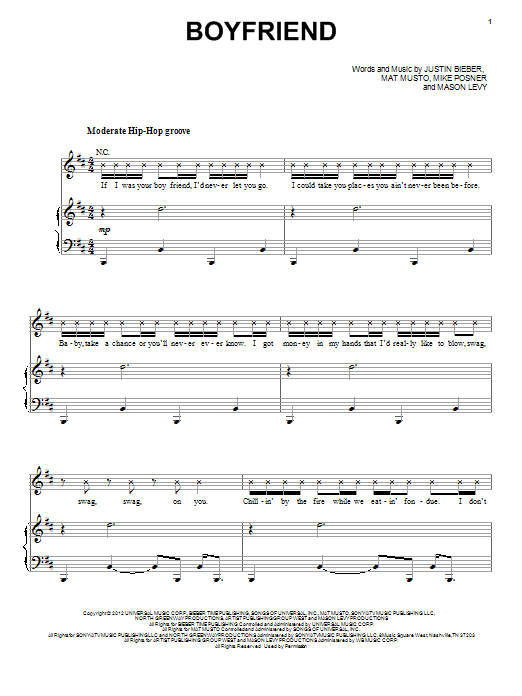 Boyfriend Sheet Music