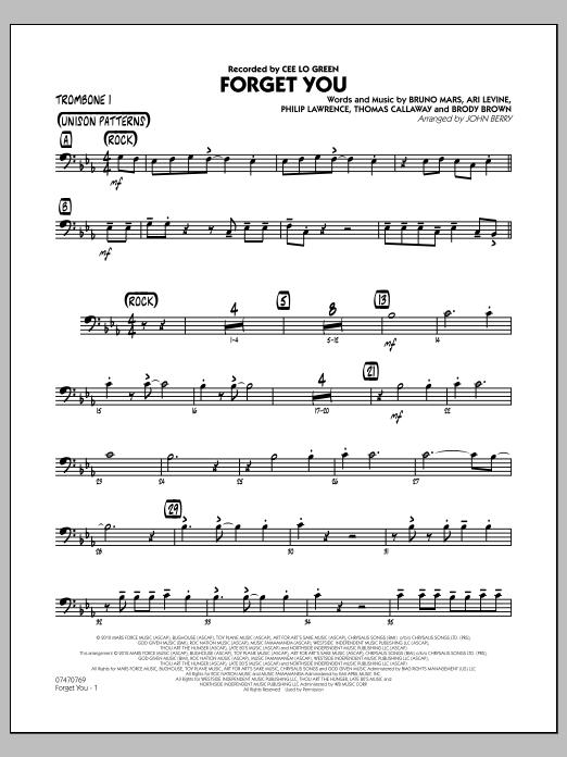 Forget You - Trombone 1 (Jazz Ensemble)