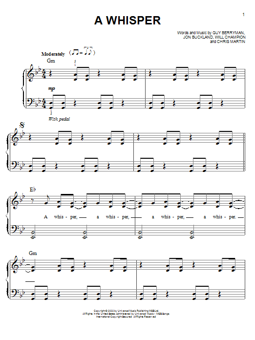 A Whisper Sheet Music