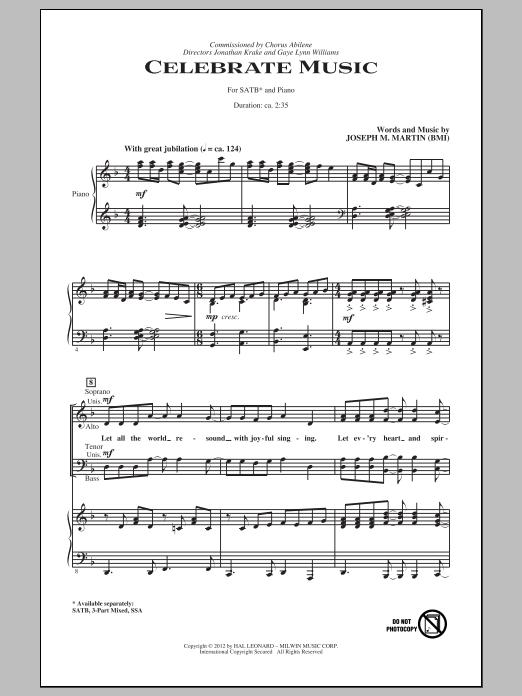 Celebrate Music (SATB Choir)