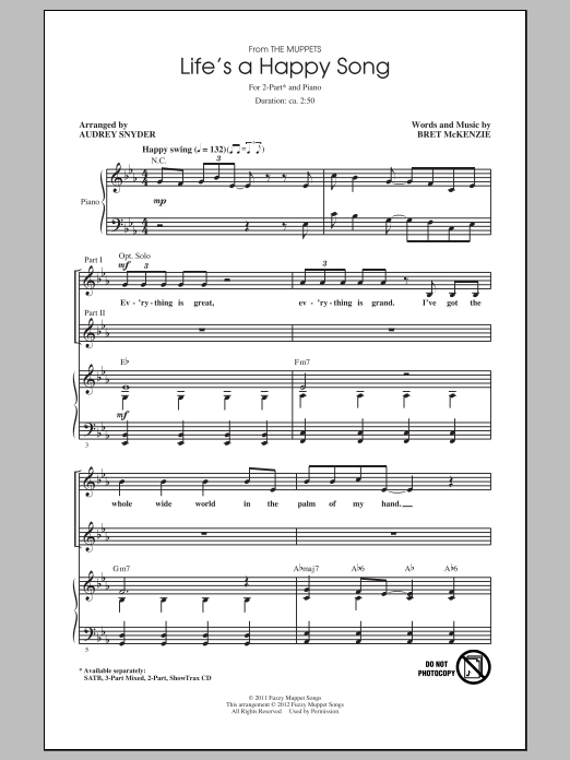 Life's A Happy Song (arr. Audrey Snyder) Sheet Music