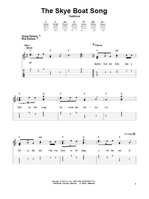 The Skye Boat Song (Easy Guitar Tab)
