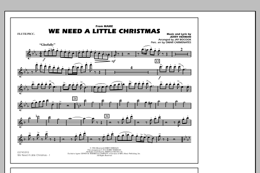 We Need A Little Christmas - Flute/Piccolo (Marching Band)