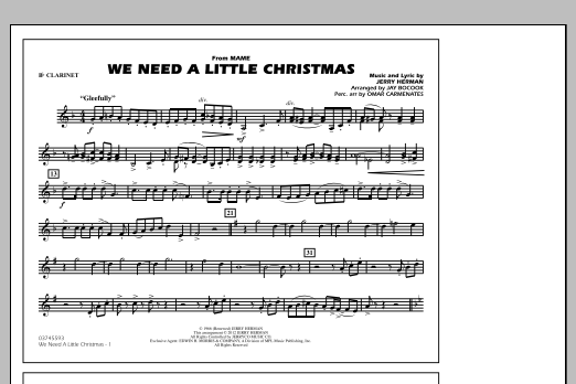 We Need A Little Christmas - Bb Clarinet (Marching Band)
