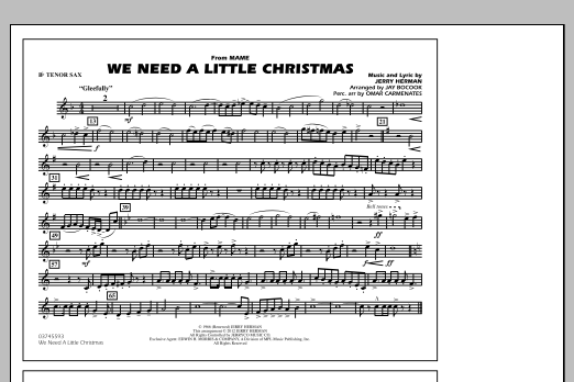 We Need A Little Christmas - Bb Tenor Sax (Marching Band)