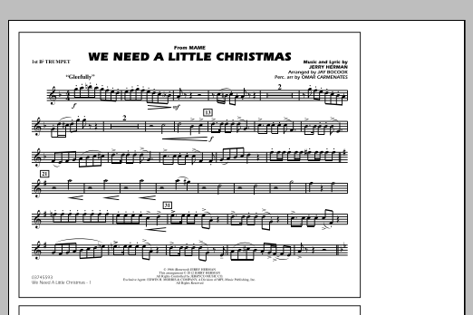 We Need A Little Christmas - 1st Bb Trumpet (Marching Band)