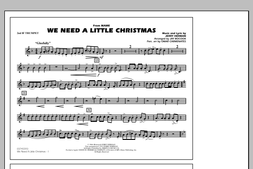 We Need A Little Christmas - 2nd Bb Trumpet (Marching Band)