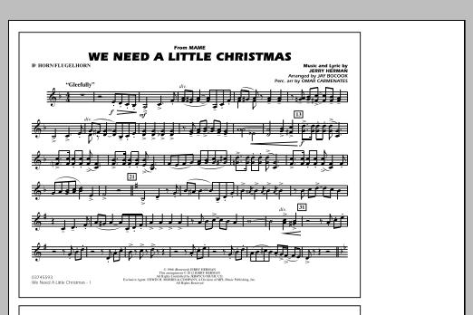 We Need A Little Christmas - Bb Horn/Flugelhorn (Marching Band)