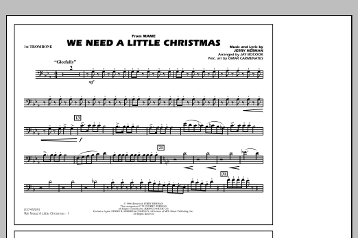 We Need A Little Christmas - 1st Trombone (Marching Band)
