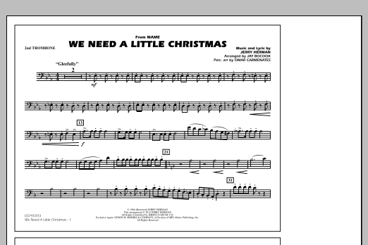 We Need A Little Christmas - 2nd Trombone (Marching Band)