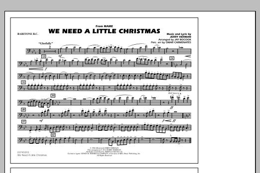 We Need A Little Christmas - Baritone B.C. (Marching Band)