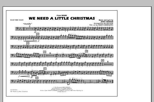 We Need A Little Christmas - Electric Bass (Marching Band)