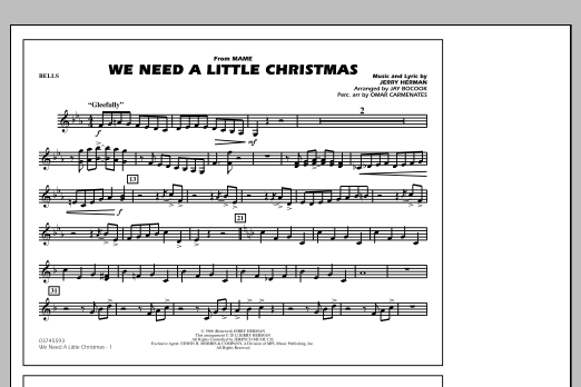 We Need A Little Christmas - Bells (Marching Band)