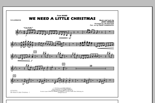 We Need A Little Christmas - Xylophone (Marching Band)