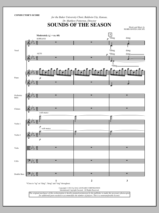 Sounds Of The Season (complete set of parts) sheet music for orchestra/band (Orchestra) by Mark Hayes. Score Image Preview.