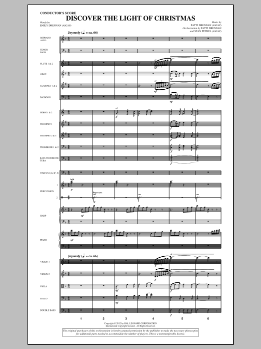 Discover The Light Of Christmas (complete set of parts) sheet music for orchestra/band (Orchestra) by Patti Drennan and Emily Drennan. Score Image Preview.