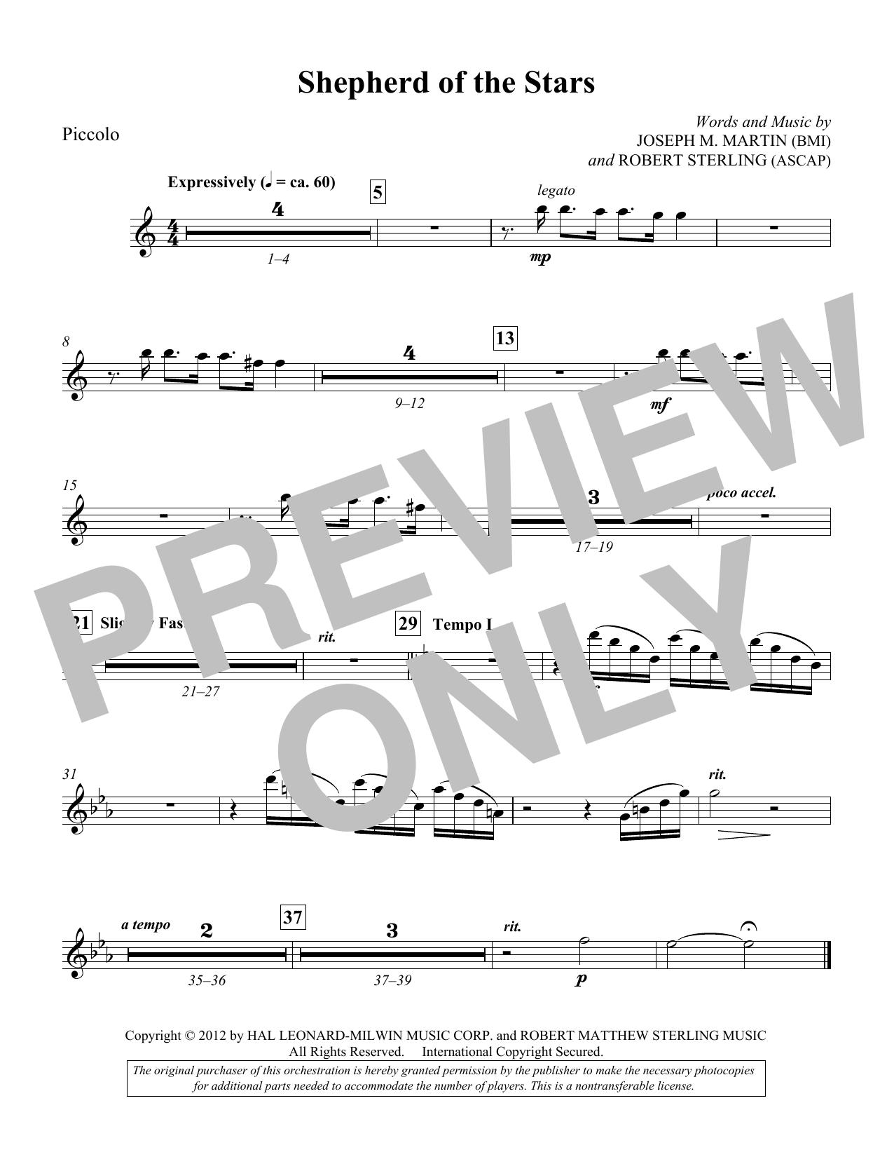 Shepherd Of The Stars - Piccolo (Choir Instrumental Pak)