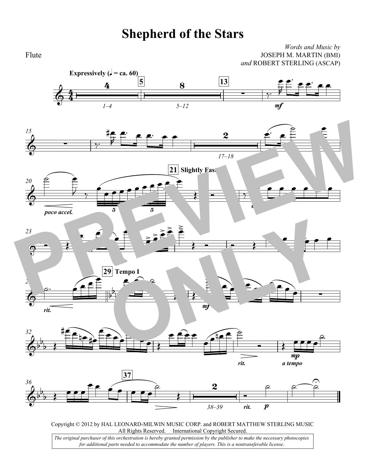 Shepherd Of The Stars - Flute (Choir Instrumental Pak)