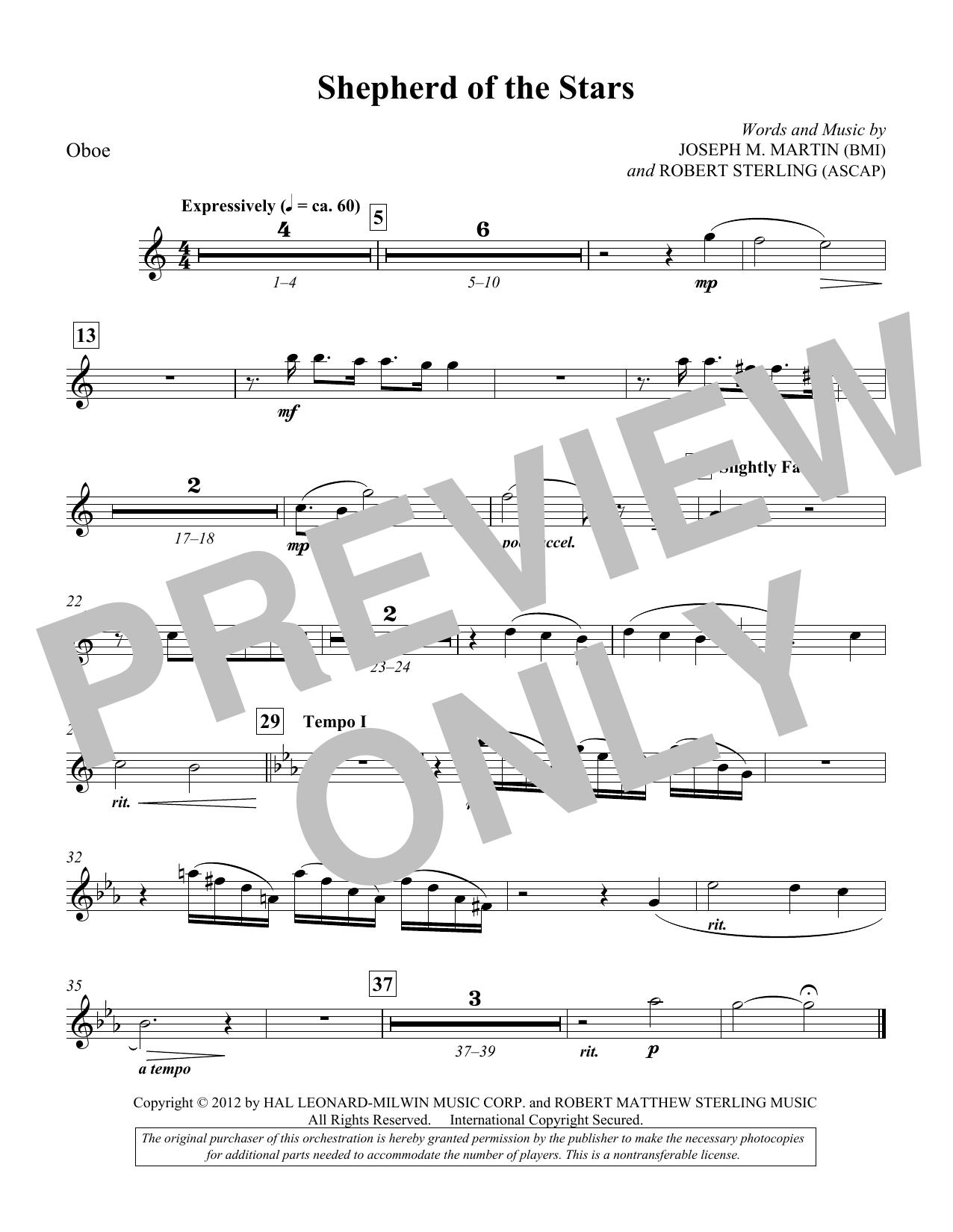 Shepherd Of The Stars - Oboe (Choir Instrumental Pak)