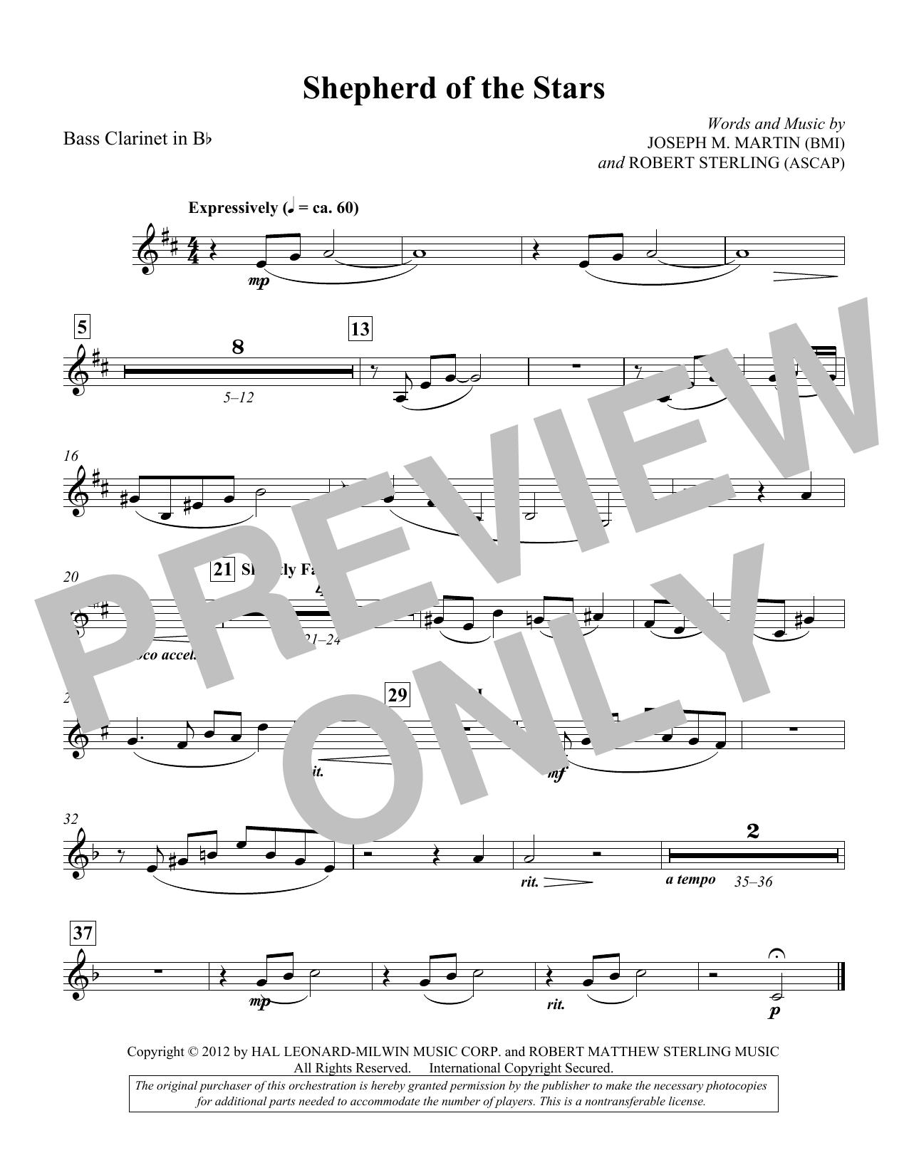 Shepherd Of The Stars - Bass Clarinet in Bb (Choir Instrumental Pak)