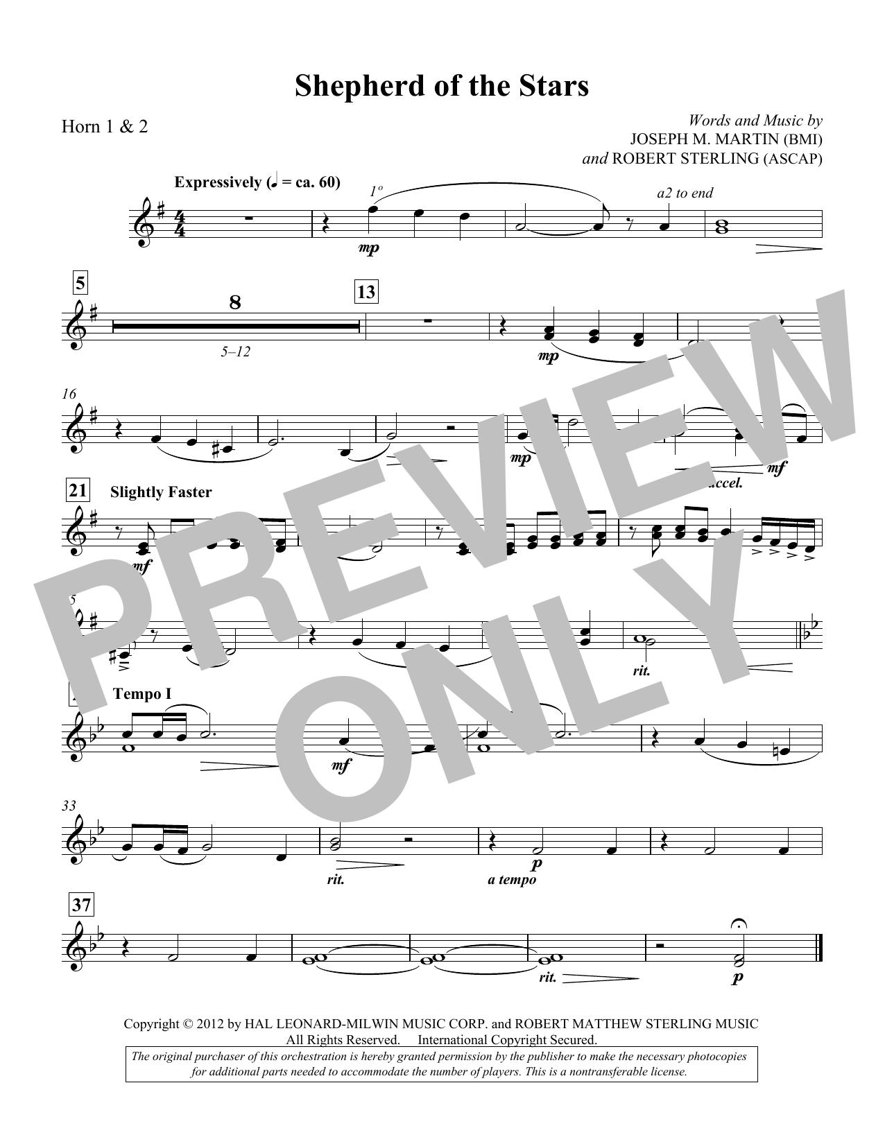 Shepherd Of The Stars - F Horn 1,2 (Choir Instrumental Pak)