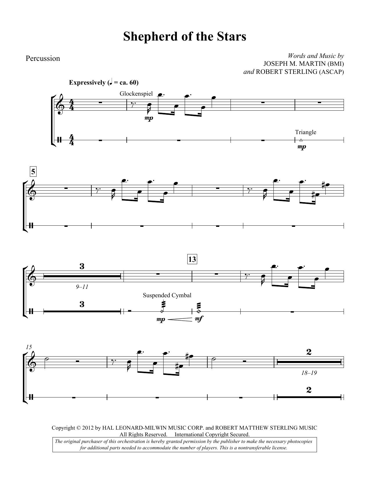 Shepherd Of The Stars - Percussion (Choir Instrumental Pak)