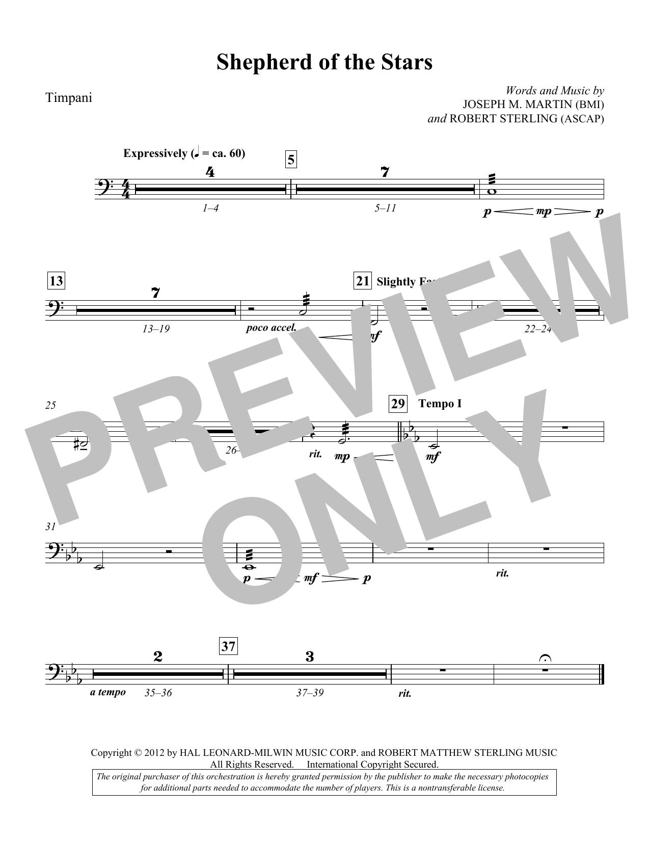 Shepherd Of The Stars - Timpani (Choir Instrumental Pak)