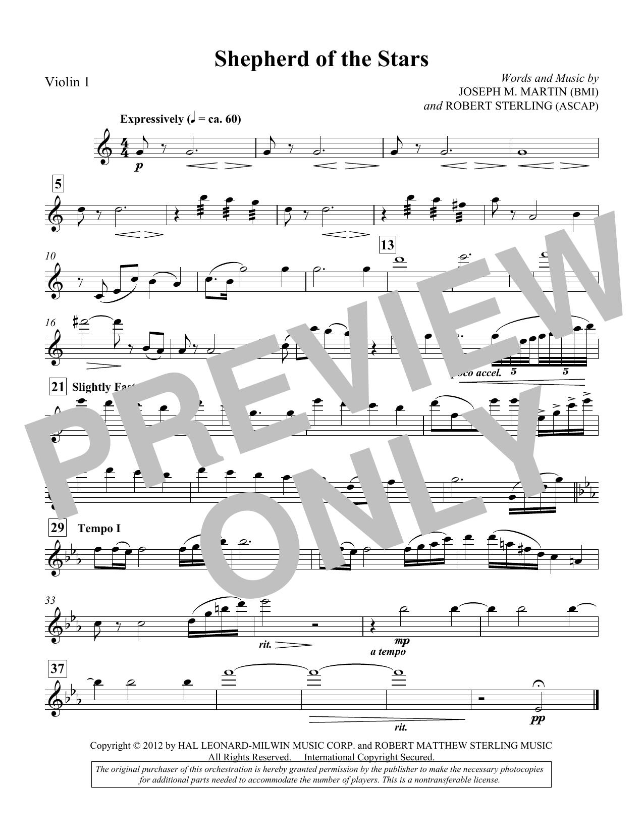 Shepherd Of The Stars - Violin 1 (Choir Instrumental Pak)