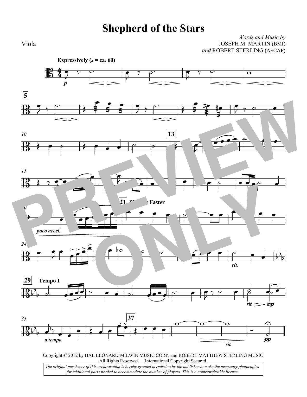 Shepherd Of The Stars - Viola (Choir Instrumental Pak)